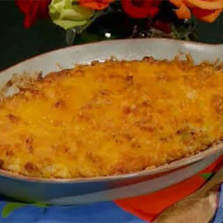 Crab Macaroni and Cheese Casserole.