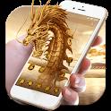 3D Golden  Dragon icon