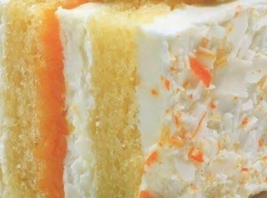 Layered Dessert Recipes With Cake Mix: Orange Dream Creamsicle Cake Recipe