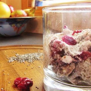 Cranberry Walnut Chia Pudding [Vegan, Gluten-Free]