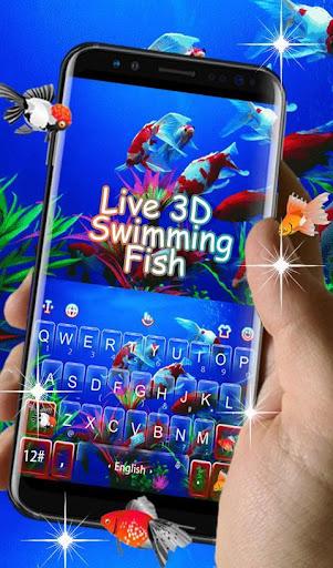 Live 3D Swimming Fish Keyboard Theme 6.5.22 screenshots 3