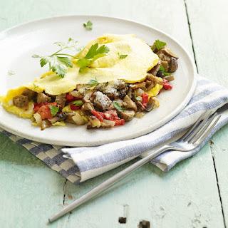 Italian Sausage & Vegetable Omelet.