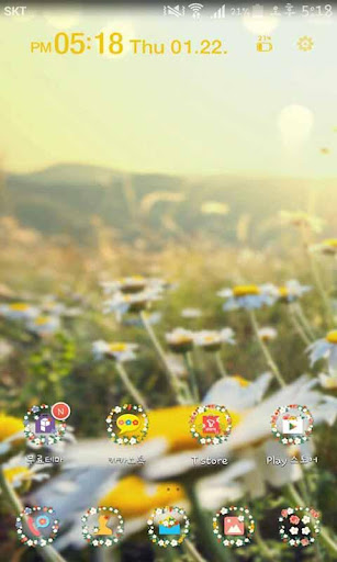 Spring Flowers Launcher Theme