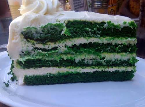 "Green Velvet Cake ""I love velvet cakes, they are so delicious and..."