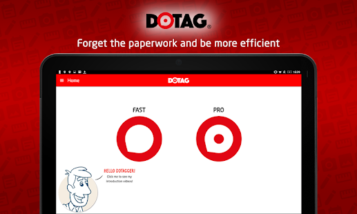 Dotag worksite mobile reporting application- screenshot thumbnail
