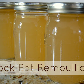 Crock Pot Remoulliage - Double Portion Chicken Broth