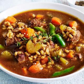Beef And Barley Soup.