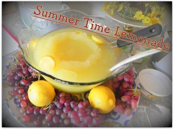 Summer Time Lemonade Recipe