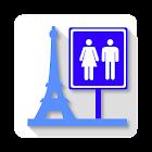 Toilets in Paris icon