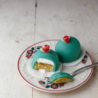 Mini Rhubarb Princess Cakes.