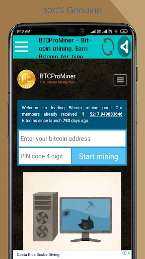Cloud Bitcoin Miner Pro App Report on Mobile Action - App Store