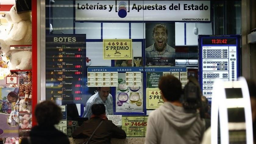 Imagen de archivo de una administración de lotería.
