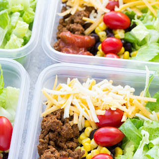 Meal Prep Taco Salad Lunch Bowls.