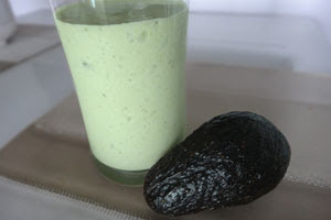 Avocado Milkshake with Whey Protein