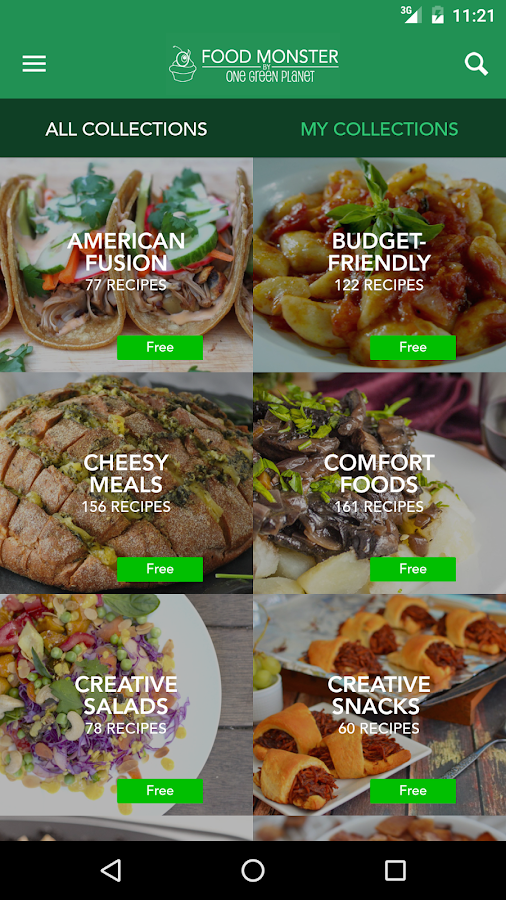 Food Monster: Vegan Recipes- screenshot