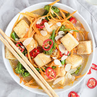 Malaysian Tofu & Carrot Noodle Laksa.