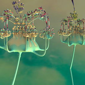 The Colors of Music by Glenda Popielarski - Illustration Abstract & Patterns ( m3d, colorful, abstract art, green, digital art, fractal art, mandelbulb 3d, mb3d, fractals, raw fractals,  )