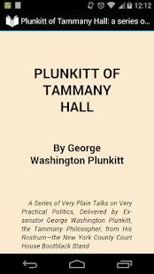 book report of plunkitt of tammany