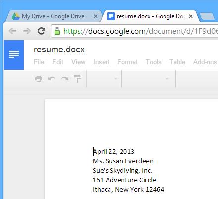 Google Drive Cheat Sheet Rondout Valley - Docx to google docs