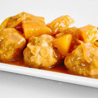 Slow Cooker Hawaiian Chicken Meatballs.