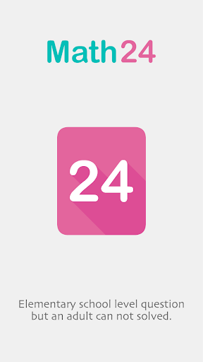 Math24 - A puzzle of math 24