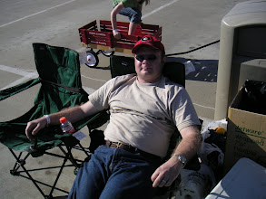 Photo: Daddy relaxing in his hat and shades.