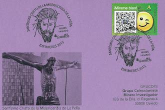 Photo: Tarjeta del matasellos del Santísimo Cristo de la Misericordia de La Peña, del Grupo Filatélico Mierense