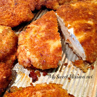 Marinated Crispy Panko Chicken Breasts.