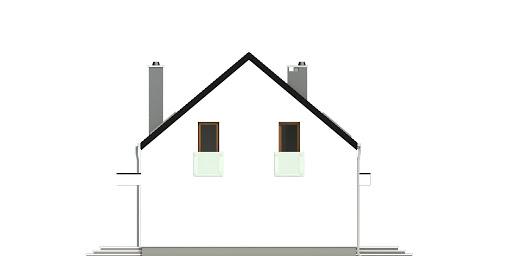Sosnówka bez garażu bliźniak B-BL1 - Elewacja lewa