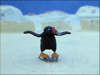 Pingu Plays Ice Hockey