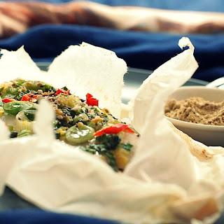Celery-Scallion Sole en Papillote Recipe