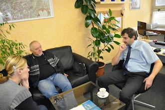 Photo: Před vystoupením s panem Krylem v ředitelně.