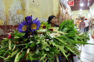 Photo: Year 2 Day 55 -  Flower Seller in Mahamuni Paya