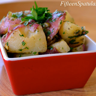 Salsa Verde Dressed Red Potato Salad