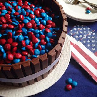 M&M Kit Kat Cake - Fourth of July Style