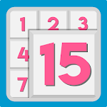 NumPuzzle: Sliding 15 Puzzle. Game of fifteen. icon