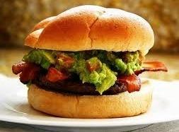 Green Chili Burgers With Guacamole Sauce Recipe