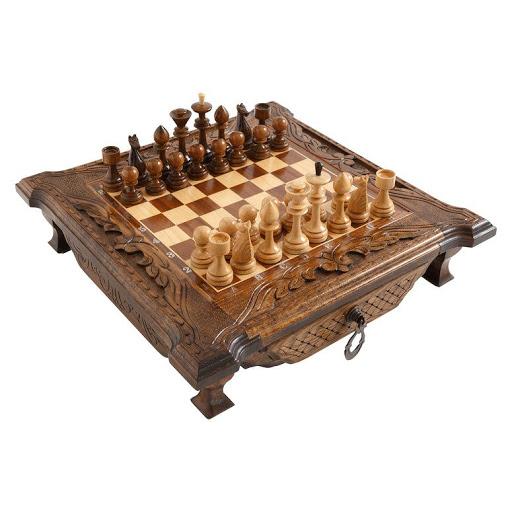 Шахматы резные в ларце с ящиками 40 Haleyan kh101 купить