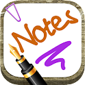 Write notes on the screen icon