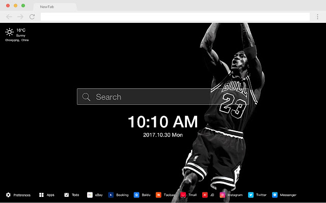 Michael Jordan New Tab HD Popular Theme