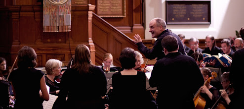 Photo: John Butt directing the Dunedin Consort (c) Cameron Leask