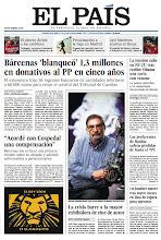 Photo: En la portada de EL PAÍS del jueves 18 de abril: Bárcenas 'blanqueó' 1,3 millones en donativos al PP en cinco años; La crisis barre la mayor exhibidora de cine de autor; La tensión sube en EE UU tras recibir Obama una carta con veneno http://srv00.epimg.net/pdf/elpais/1aPagina/2013/04/ep-20130418.pdf