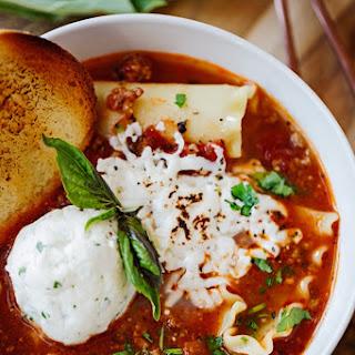 Warm & Comforting Lasagna Soup