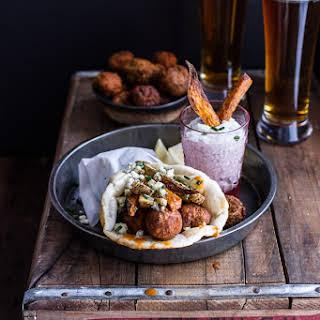 Buffalo Falafel and Garlic Blue Cheese Fry Pita's w/Ranch Style Tzatziki..