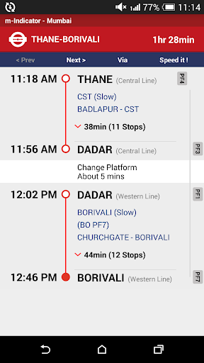 m-Indicator- Mumbai - Live Train Position screenshot 5