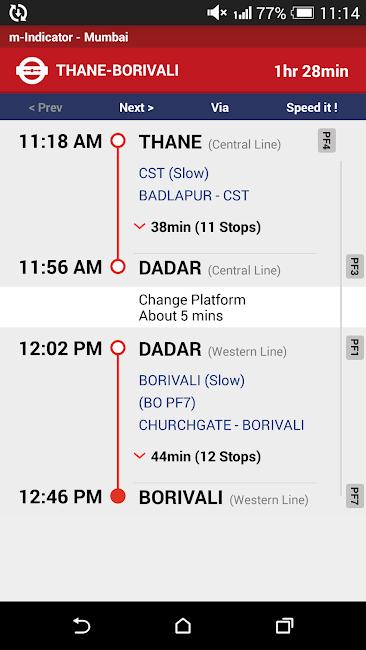 #4. Mumbai Local Train Timetable (Android)