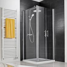 Duschkabinen_Favorit Nova Pendeltuer mit Seitenwand