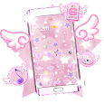 Pink Sparkle Star Theme Icon Pack