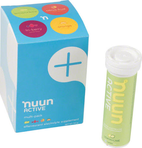 Nuun Active Hydration Tablets: 4 Tube Original Mixed Pack