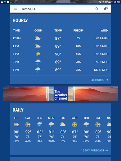 Screenshot 10 for The Weather Channel's Android app'